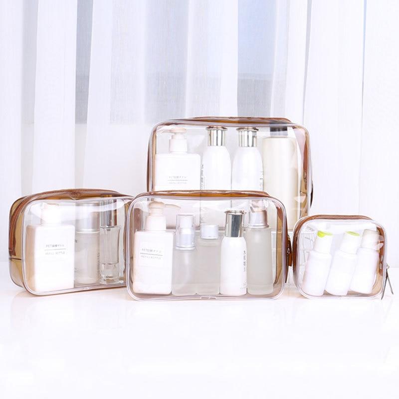 DIHFXX Waterproof Transparent PVC Pen Box Big Makeup Bag For Girls Gift Coin Bag Fashion PVC Toiletr