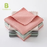 curbblan 1pc dishcloth fish scale wipe cloth household microfiber clean rag home washing kitchen dishrag housewife clean tools
