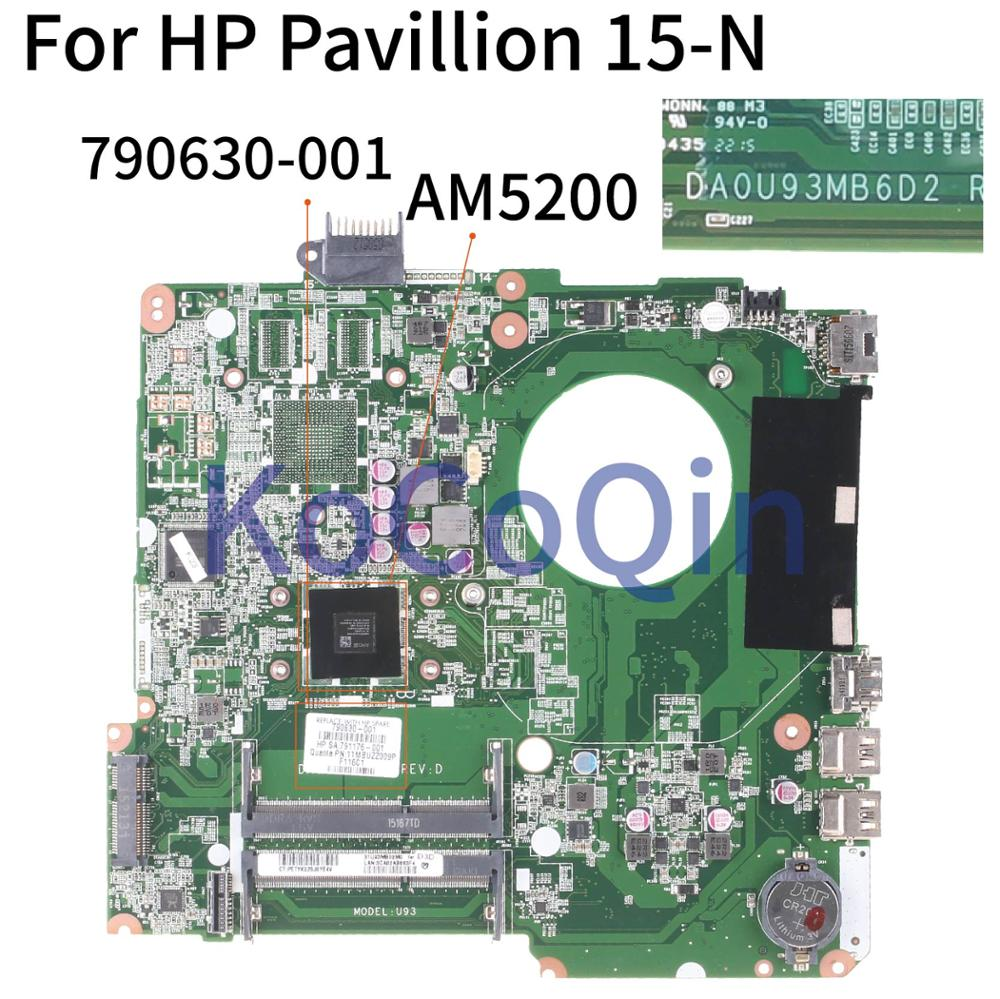 KoCoQin محمول لوحة رئيسية لأجهزة HP بافيليون 15-N 15-F A4-5000 اللوحة DA0U93MB6D2 790630-001 790630-501 790630-601