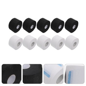 10 Rolls Disposable Papers Barber Neck Strips Professional Neck Papers (Assorted Color)