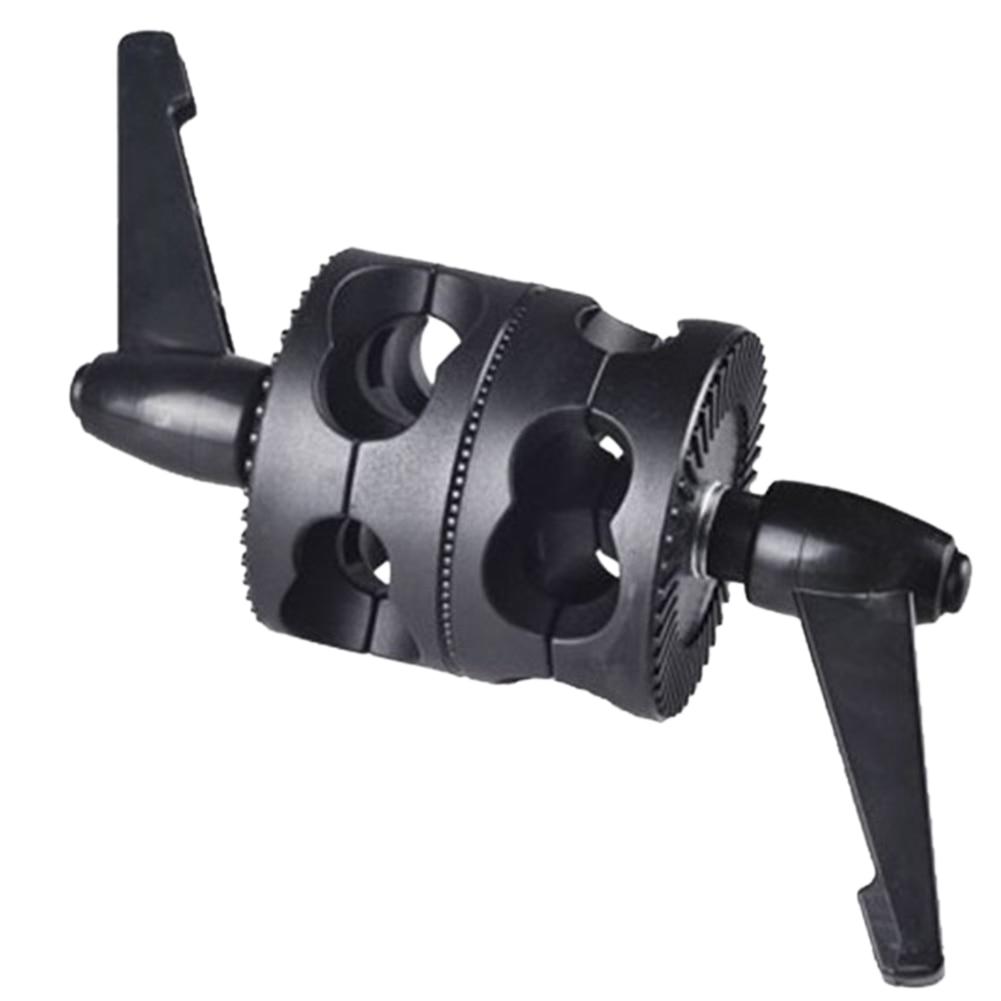 Suporte ajustável foto studio cabeça aperto braçadeira fotografia universal duplo braço giratório suporte para boom acessórios ângulo de suporte