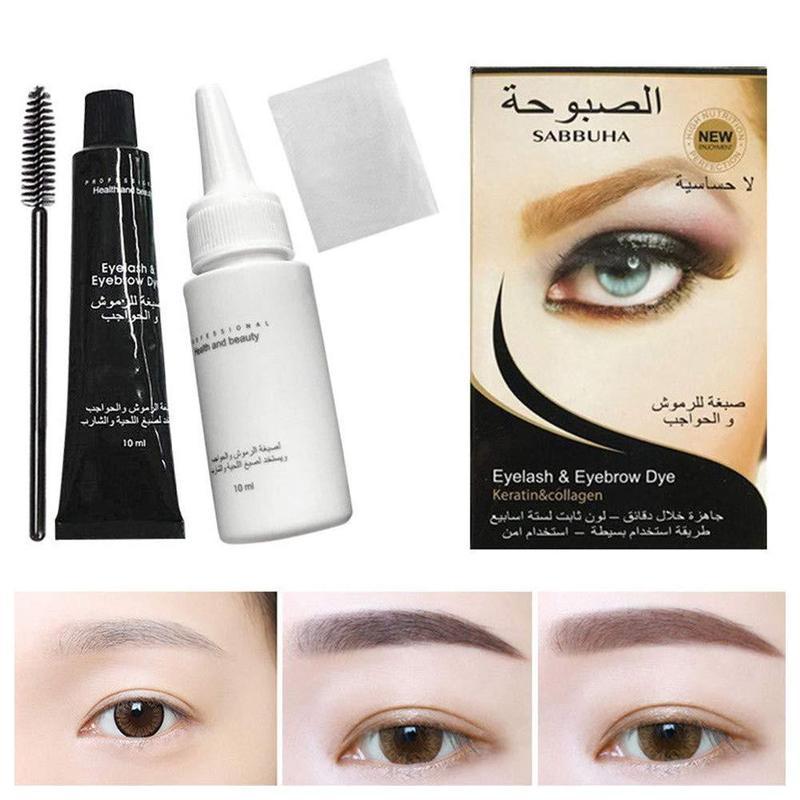 1 Set Eyelash Eyebrow Dye Tint Gel Waterproof Permanent Mascara Brow Lashes Comb Brush Set Eye Brow Mascara Cream With Brush