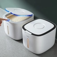 plastic rice bucket kitchen organizer and storage container cereal dispenser pet food nano insect proof sealed box measuring cup