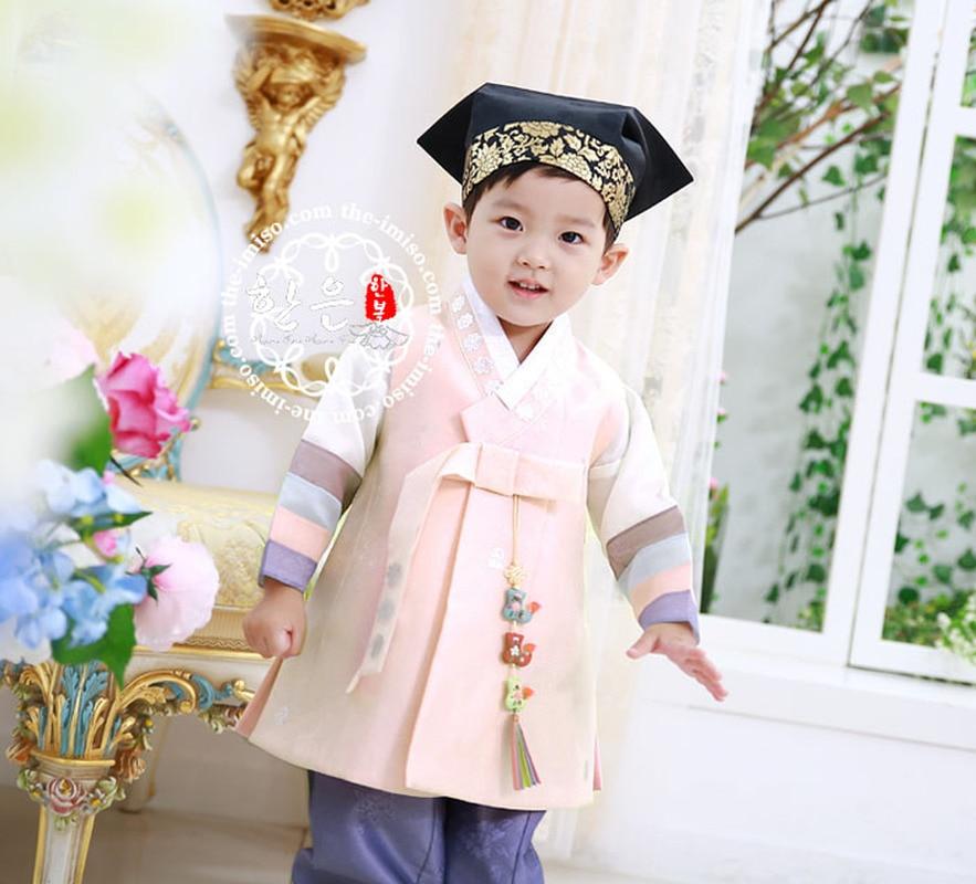 Korean Imported Fabric Boys First Birthday Korean Clothes / High-grade Children's New Korean Clothes Belt Fashion
