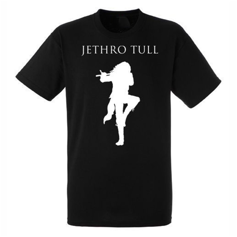 Jethro Tull Logo negro nueva camiseta Rock banda fitness camiseta de talla grande