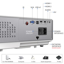 Full HD Projector Native 1920 x 1080P WiFi Android Projector TD96W TD96 Beamer Home Theater Video Bi