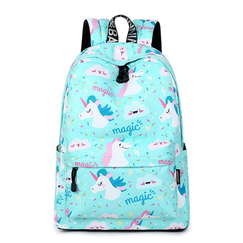 CIKER Women Backpack Unicorn Cute School Printing Bookbag Bags For Teenage Girls Mochila Travel Softback