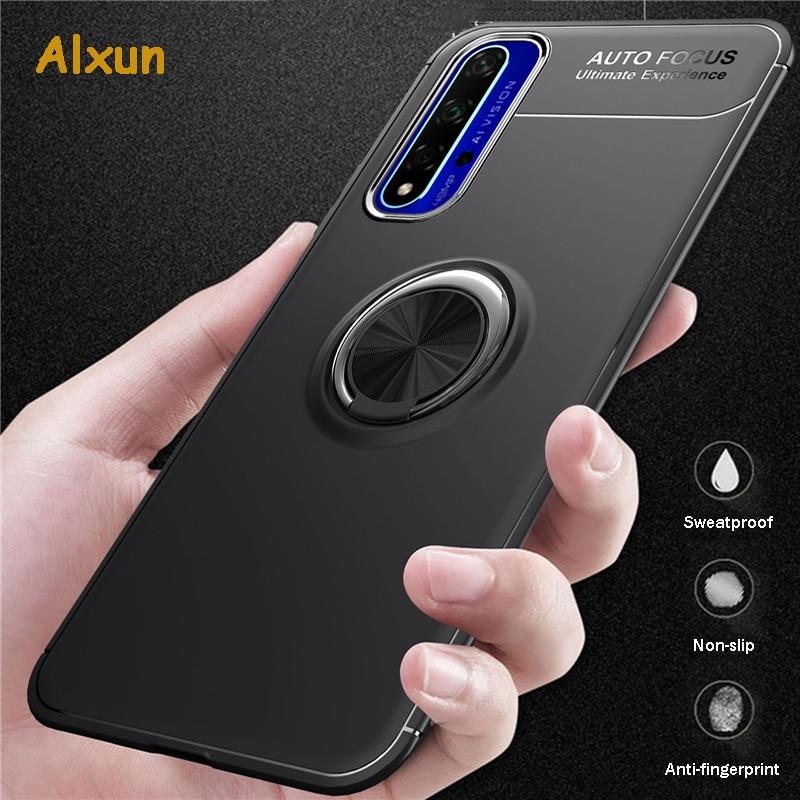 Alxun For Huawei Honor V30 Pro Case Car Holder Stand Magnetic TPU Bracket Ring Case For Huawei Honor V20 V30 20 Pro 20i Case