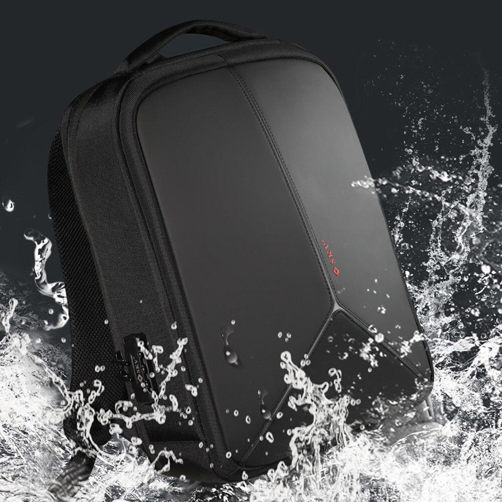 IKE MARTI-حقيبة ظهر للكمبيوتر المحمول مقاومة للماء ، حقيبة ظهر مدرسية ، تصميم جديد ، شحن USB ، حقيبة سفر رجال الأعمال