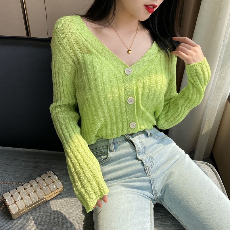 Online Celebrity Knitted Cardigan Short 2020 Spring and Autumn New Style Thin Inner Match Loose Versatile Bottoming enlarge