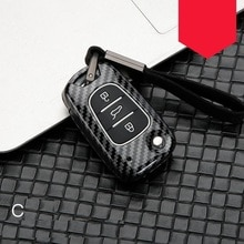 Étui de clé de voiture en alliage de fibres de carbone pour Kia RIO K2 K5 Sportage Sorento fit Hyundai i20 i30 i35 iX20 iX35 Solaris Verna
