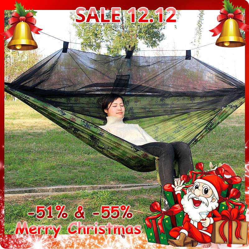 Parachute Hammock Mosquito-Net Ultralight Camping-Tent Outdoor Using with Bites