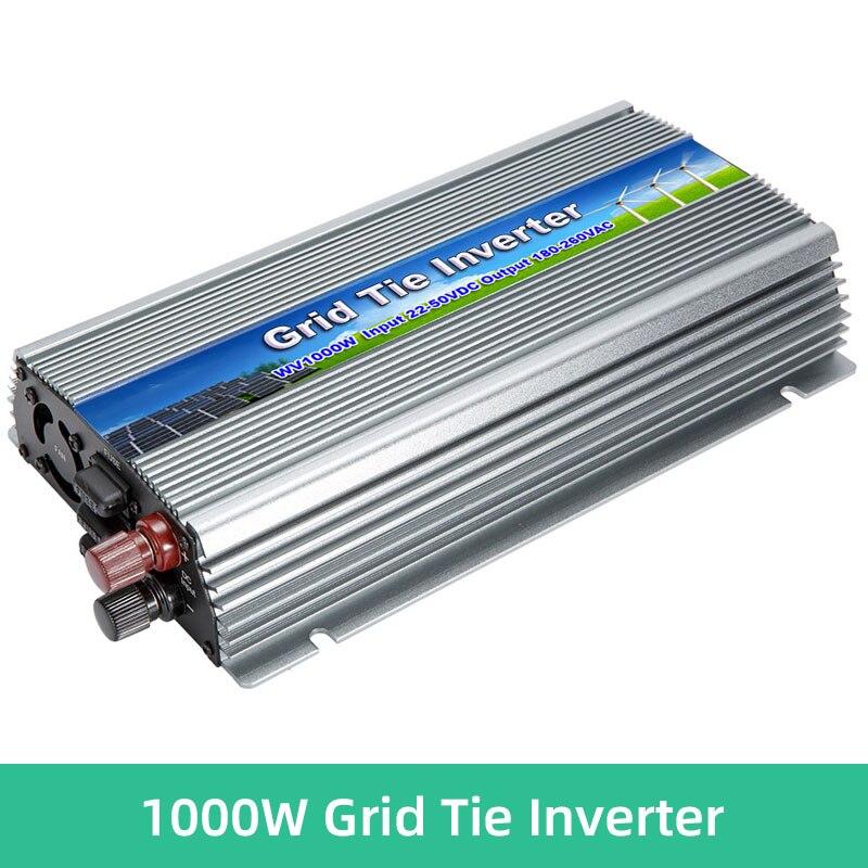 1000 واط MPPT الشمسية مايكرو محوّل ربط شبكي PV المدخلات 10.5 فولت-30 فولت/22 فولت-50 فولت تيار مستمر الناتج 110 فولت/220 فولت محول التيار المتردد