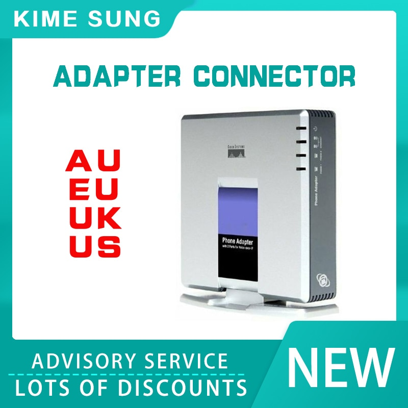 1 sim goip voip gsm gateway imei changeable sip 1Set VOIP Gateway 2 Ports SIP V2 Protocol Internet Phone Voice Adapter with Network Cable for Linksys PAP2T AU/EU/US/UK Plug