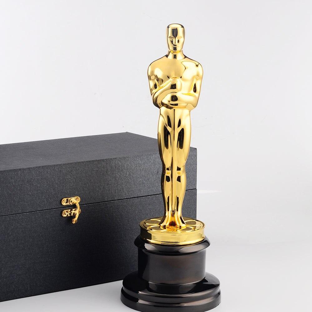 Высококачественные сувениры с изображением золотого Оскара, металлическая фигурка Оскара, копия трофея 1:1, изысканные сувениры с наградой ...