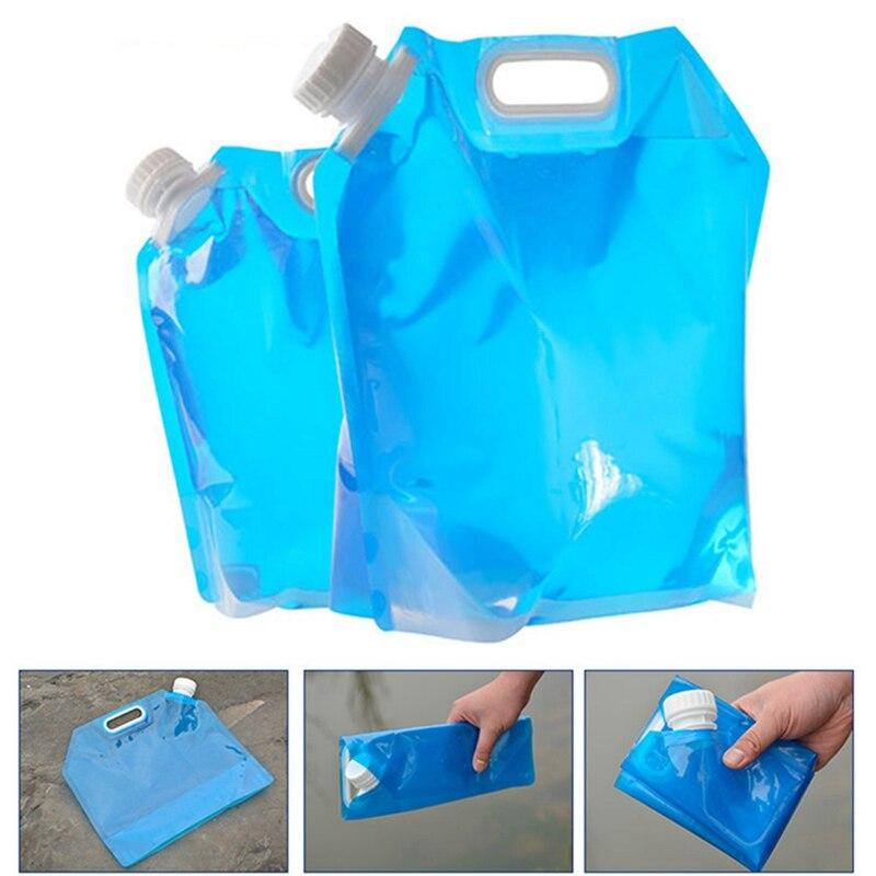 Meilleur! Sac à eau en plein air haute capacité sac à eau pliant bidon portable Camp à boire cuisson pique-nique BBQ récipient deau 5/10L