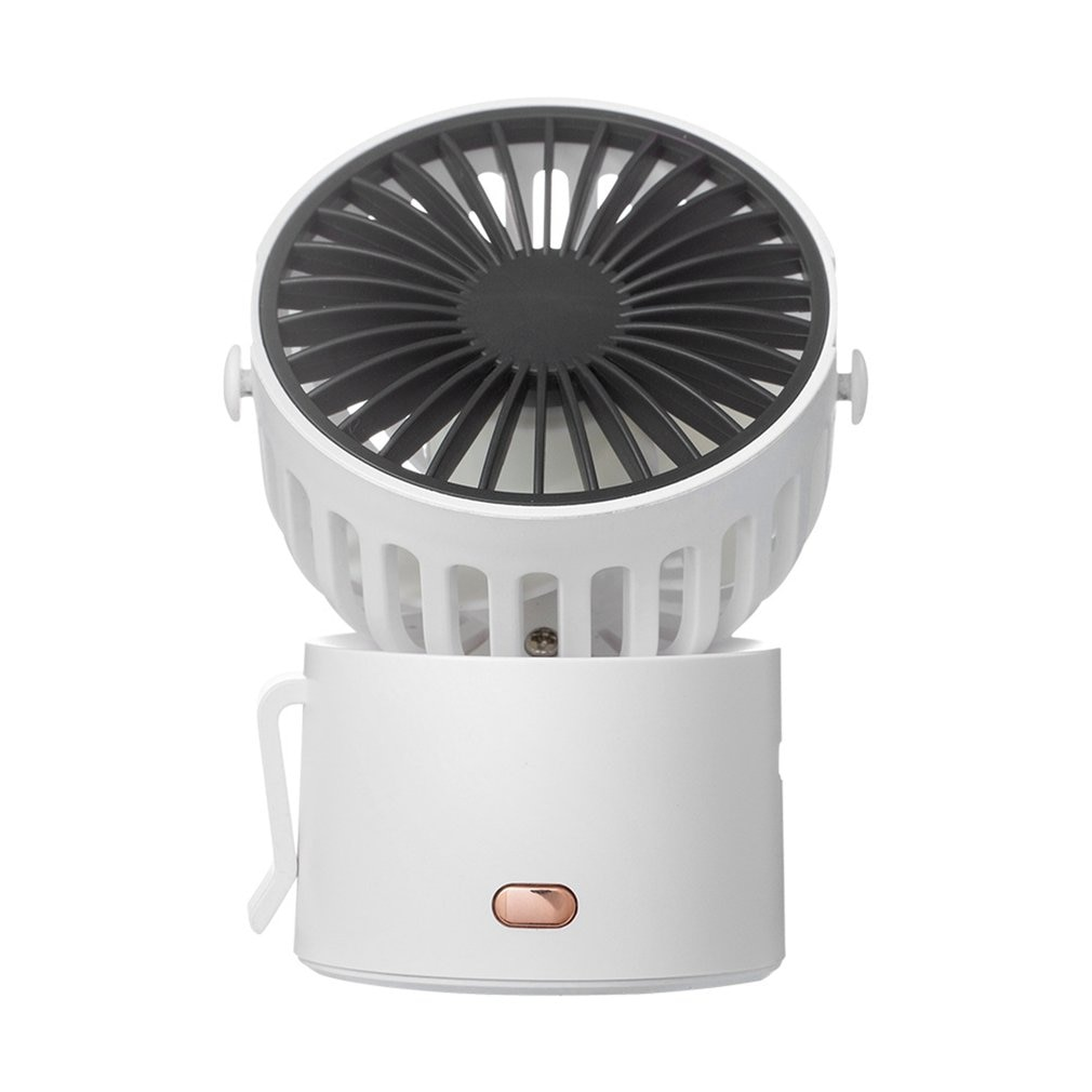 Usb Desk Fan Hanging Neck Three Gear Wind Speed With Strong Wind Quiet Operation 45° Rotation Mini Fan For Office Bedroom