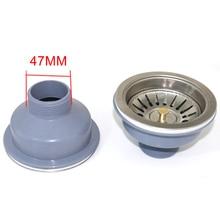 Taşınabilir öğütücü fiş lavabo süzgeç mutfak gümüş filtre paslanmaz çelik stoper süzgeç
