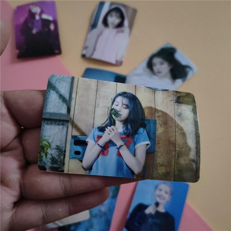 10pcs Kpop IU Lee Ji Eun 5th Mini Album Love Poem Photocard Lomo Uaena Postcards