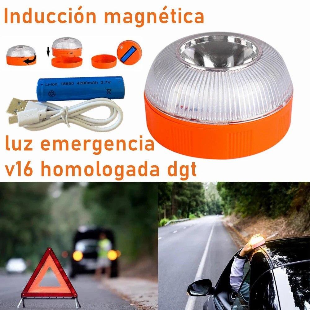 Аварийный автомобильный светильник D2 v16, одобрен dgt, Автомобильный аварийный маячок, перезаряжаемый Магнитный индукционный стробоскоп, раб...