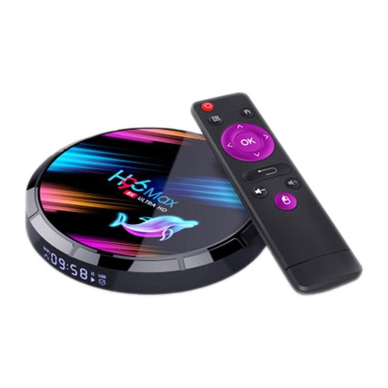 H96 MAX X3 Smart TV Box Android 9.0 4GB 32GB Amlogic S905X3 2.4G/5G WIFI BT4.0 1000M 8K Google Media Play(US Plug)