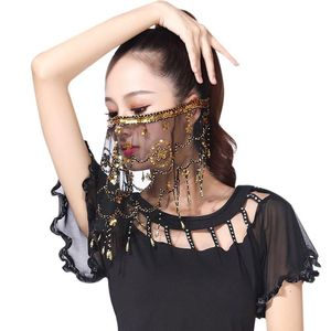 Women Belly Dance Tribal Face Veil With Halloween Costume Accessory With Sequins For Women Dance Wear