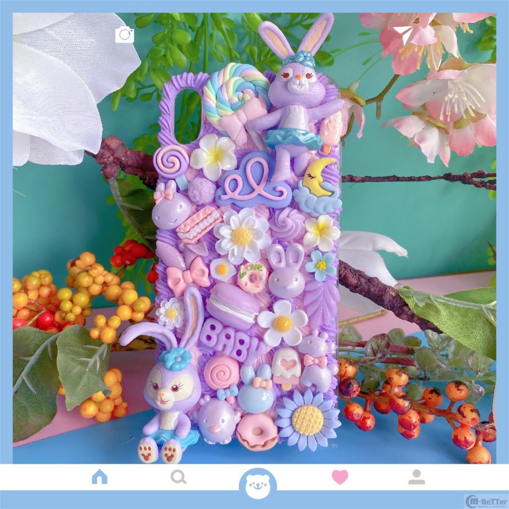 Funda DIY para Samsung S20 Ultra 3D oso funda para teléfono Note8/9/10 Plus carcasa bonita Stella Cream Galaxy S8/9/10 + caramelo comida hecha a mano
