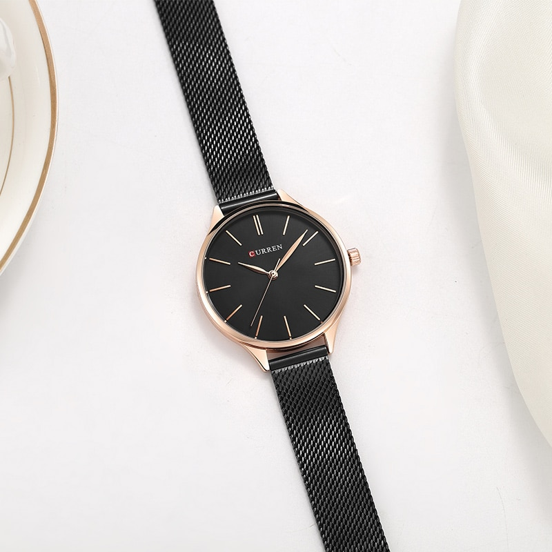 CURREN Women Watches Luxury Wrist watch relogio feminino Clock for Women Milanese Steel Lady Rose Gold Quartz Ladies Watch New enlarge
