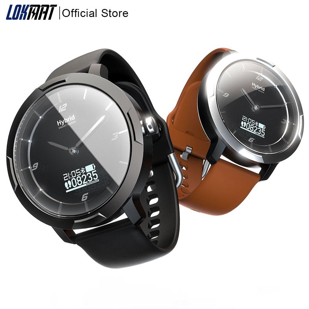 Reloj inteligente LOKMAT con Bluetooth para hombre, rastreador deportivo de Fitness, Monitor de ritmo cardíaco híbrido, reloj inteligente Digital resistente al agua para ios