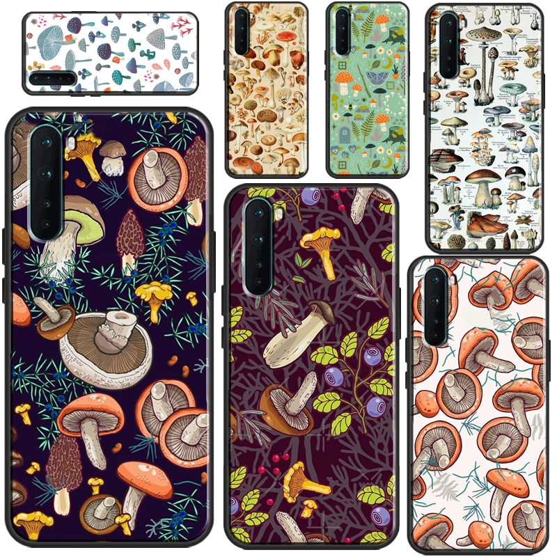 Wild Forest Mushroom Case For OnePlus 9 Pro 8 Pro Nord 7T 8T Cover For OPPO Realme 6 Pro 7 8 Pro GT