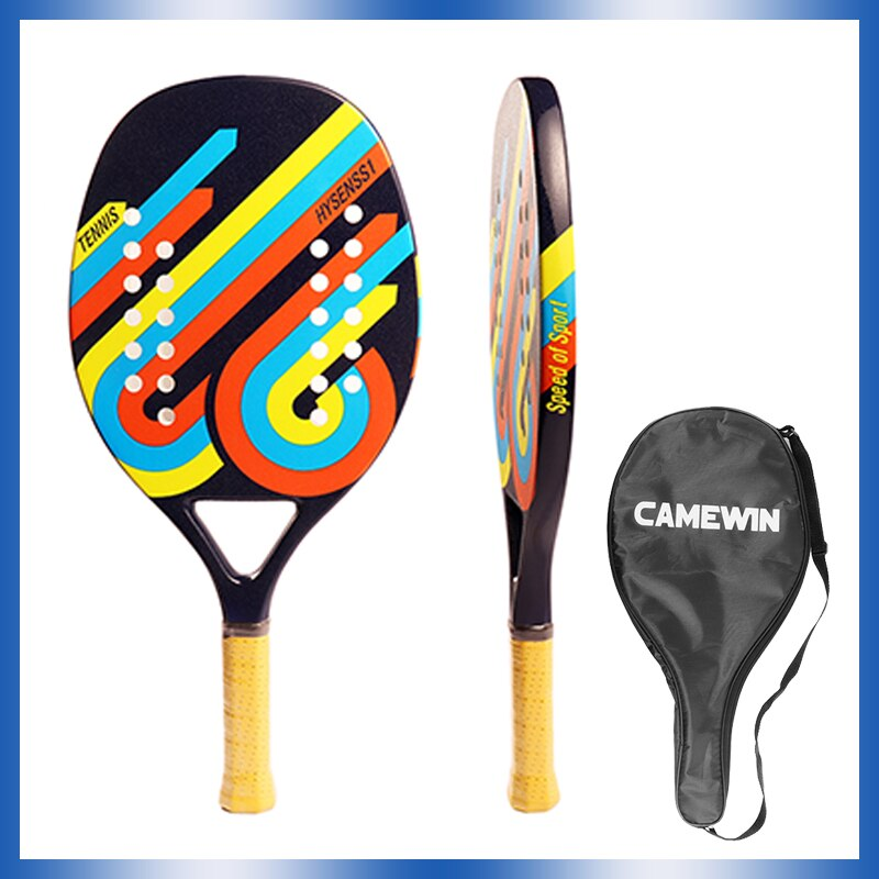2021 New Outdoor Sports Men's and Women's Beach Racket Carbon Fiber EVA Plate Racket Children's Racket Training Set Tennis