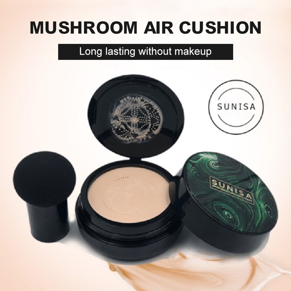 Air Cushion CC Cream Mushroom Head High Coverage Foundation Long Lasting Concealer for All Skins Face Cosmetics Oil Control Face