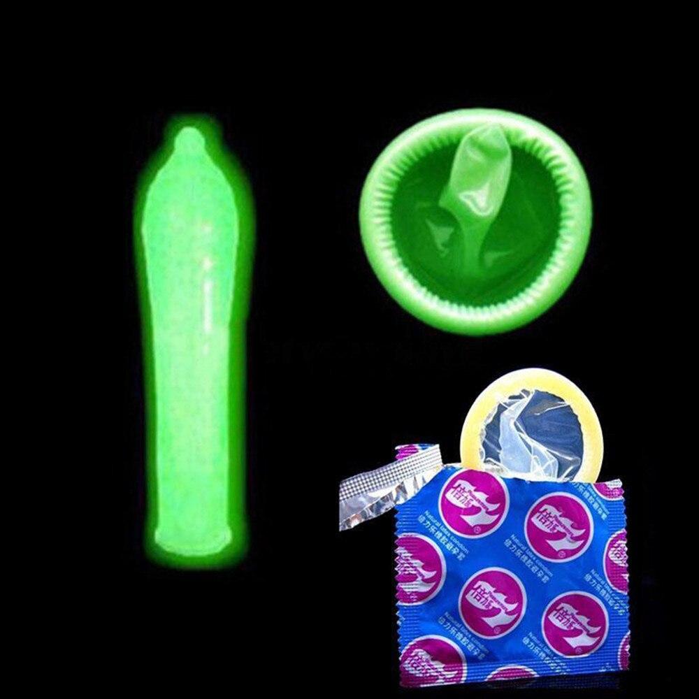 7 sztuk ultracienkich prezerwatywy Luminous opóźniony wytrysk nakładka na penisa Cock Ring Dick rozszerzenie Sex narzędzia dla mężczyzn Sex Shop Condones