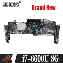 Akemy X1 YOGA Motherboard For Lenovo Thinkpad X1 YOGA 14282-2M Laotop Mainboard 00JT810 01AX808 w/ i7-6600U CPU 8G RAM