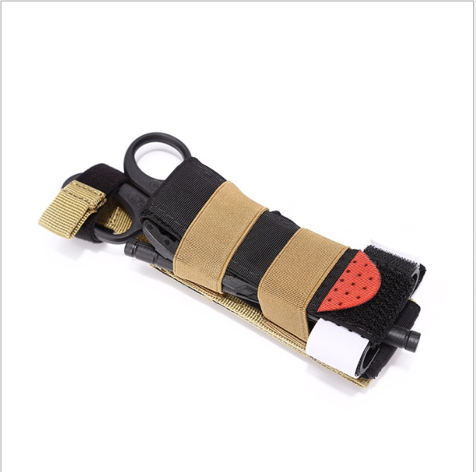 Molle torniquete bolsa titular armazenamento de emergência saco médico tq puxar guia elástica