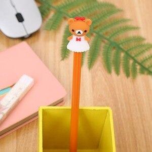 20PCs Cute Cartoon Bear Neutral Pens Set Student Exam Gel Pen Creative Kawaii School Supplies Office Stationery Wholesale