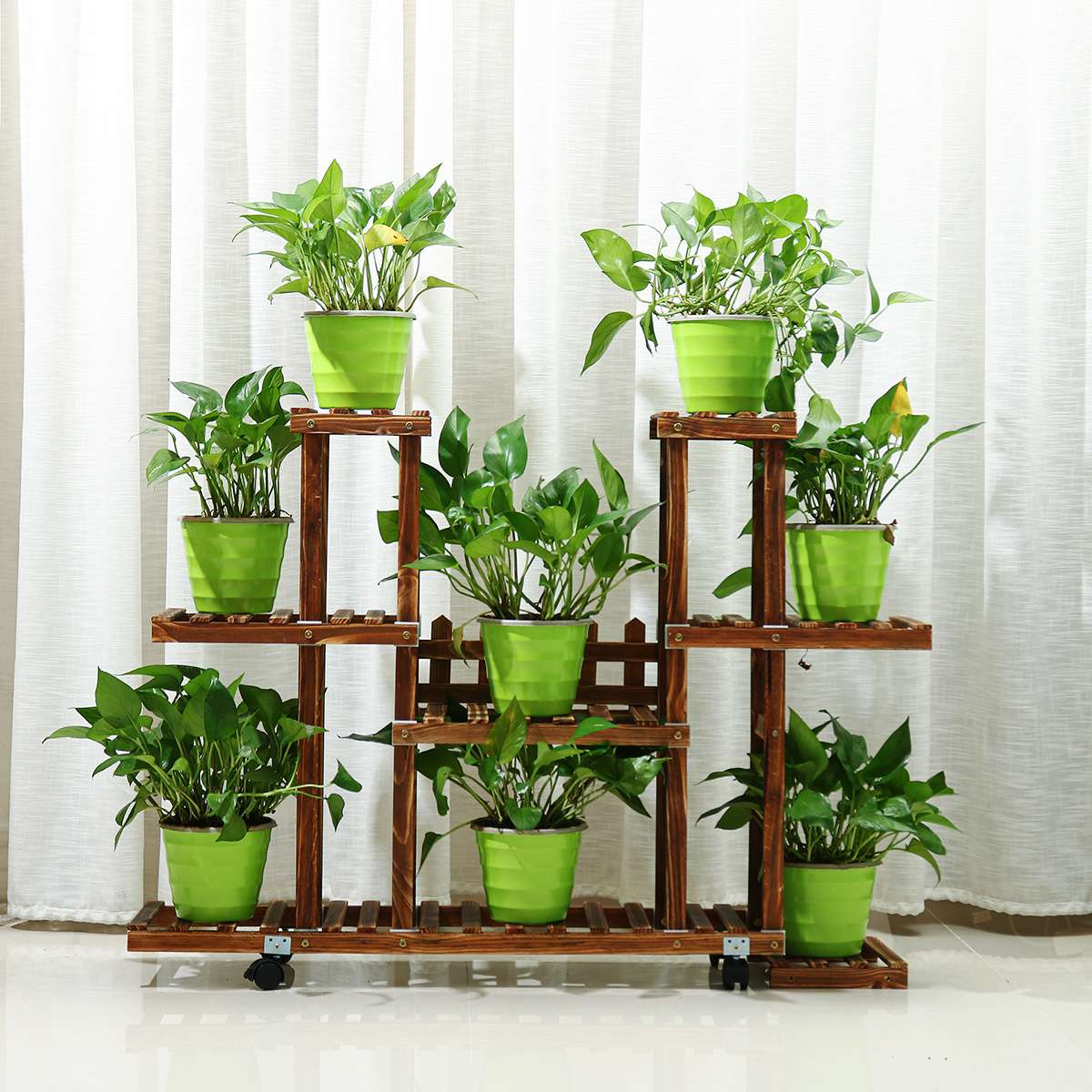 Wooden Flower Rack Plant Stand Display Shelves Storage Organizer Decoration Multi-layer Yard Garden Patio Balcony Flower Stands