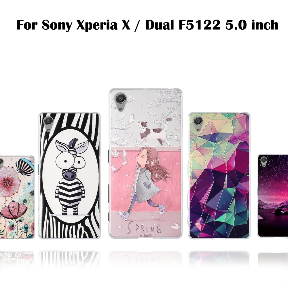 Чехол из ТПУ для Sony Xperia X Dual F5122, мягкий силиконовый чехол для телефона Sony Xperia Dual F5122 F5121