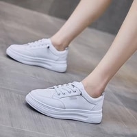 2021 autumn new korean style student leisure sports shoes womens fashion trend board shoes womens flat bottom white shoes