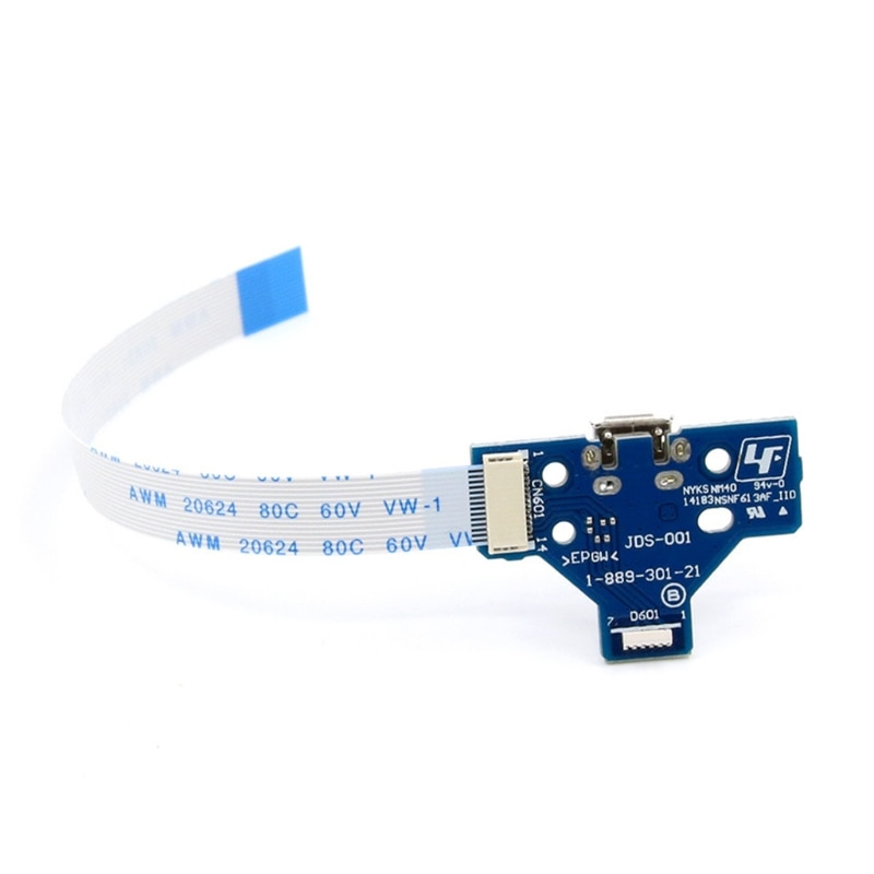 Charging Port Socket Board Replacement Adaptor Charger Connector parts with 12 Pin Flex Cable for PS4 Controller enlarge