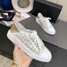 New Women Shoes Luxury Brand Sneakers Flat Loafers Leisure Woman Shoes Casual Top Quality Lace Up Sn