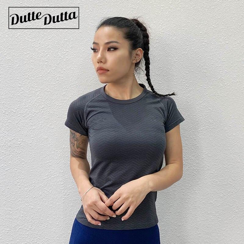 New Women's Sports Fitness Short Sleeve Fashion Beauty Back Top Soild Quick Dry Breathable Anti-Shrink Women's T-Shirt Black