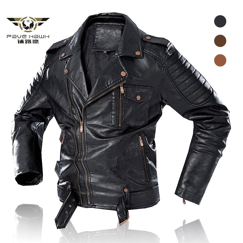 الرجال الموضة الشتاء الصوف سترة جلدية سميكة معطف دافئ دراجة نارية سترة جلدية سترة واقية أبلى معاطف حجم كبير 4XL