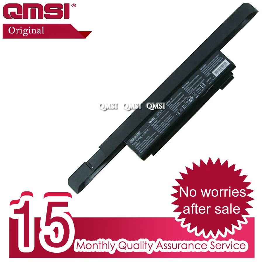 Batería de BTY-L72 Original QMSI 10,8 V 78wh 7200Mah adecuada para ordenador portátil MSI 1591 1726-XP2 1720