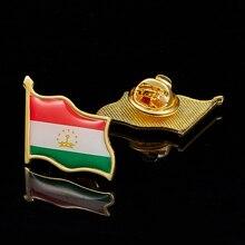 Broches de revers en métal coloré   Tadjikistan, broche de Badge de drapeau National