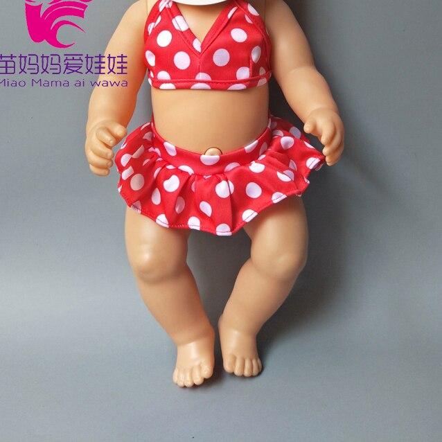 Poupée vêtements ensemble poupée Bikini + casquette été natation costume avec casquette pour 43cm bébé poupées accessoire pour fille jouer jouets