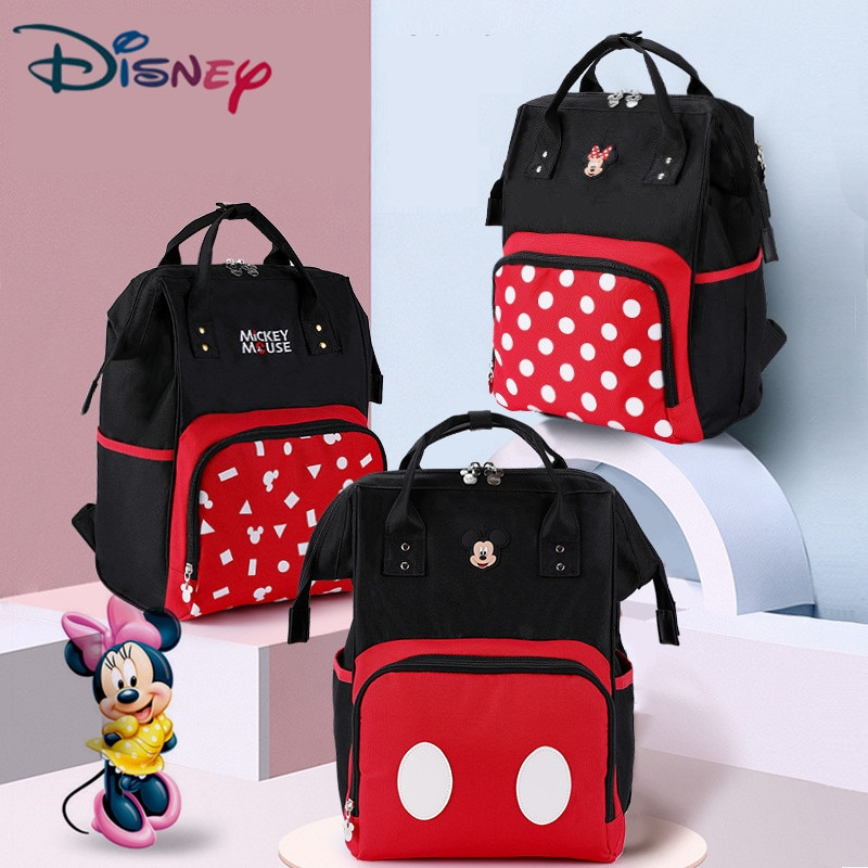 Disney Diaper Bag Backpack Mummy Maternity/Nappy Bag Baby Bag Baby Mickey Mouse Travel Nursing Bag F