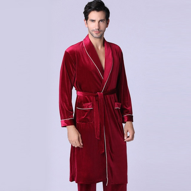 Men's or Women's New Long-sleeved Foreign Trade Home Service Gold Velvet Pajamas Suit Man /woman 10