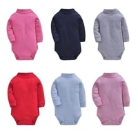 0 24m autumn new baby unisex clothes casual outfit solid newborn baby bodysuit high quality toddler pure cotton playsuit