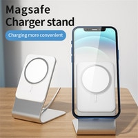 USLION 15W Wireless Charger Accessories For iPhone 12 Pro Max 12 Mini Magnetic Charger Phone stand Holder Desktop Mount stents